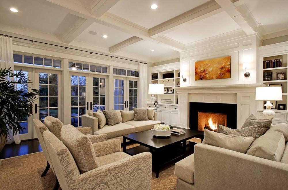 Элементы стиля модерн в гостиной