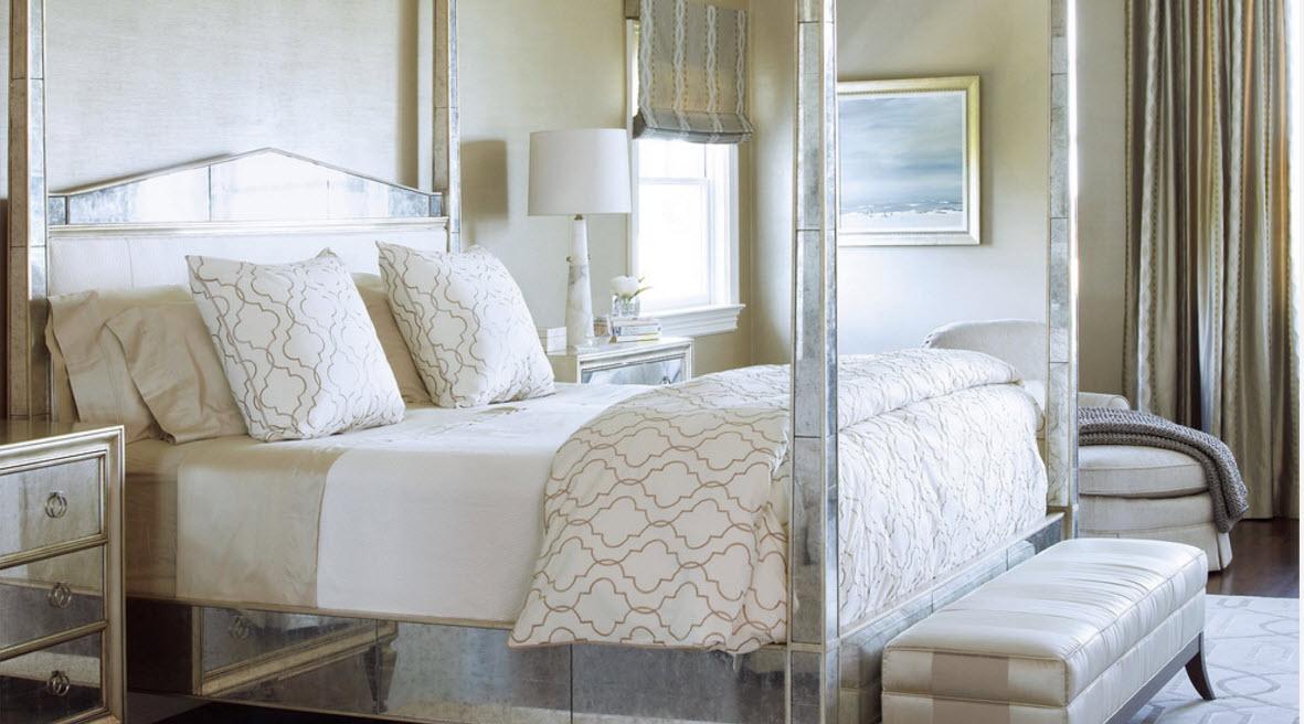 Спальный гарнитур с зеркальными поверхностями