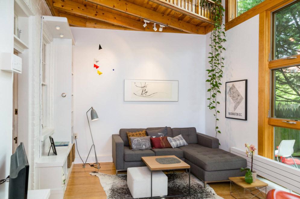 Скандинавские мотивы в гостиной