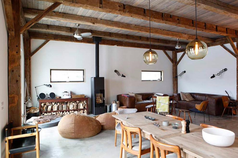 Дизайн кантри-гостиной