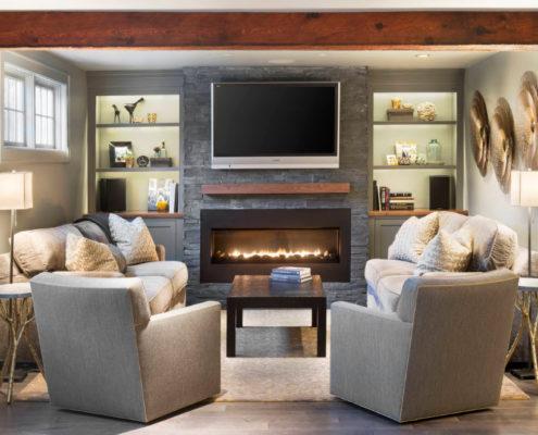Современные мотивы в оформлении гостиной