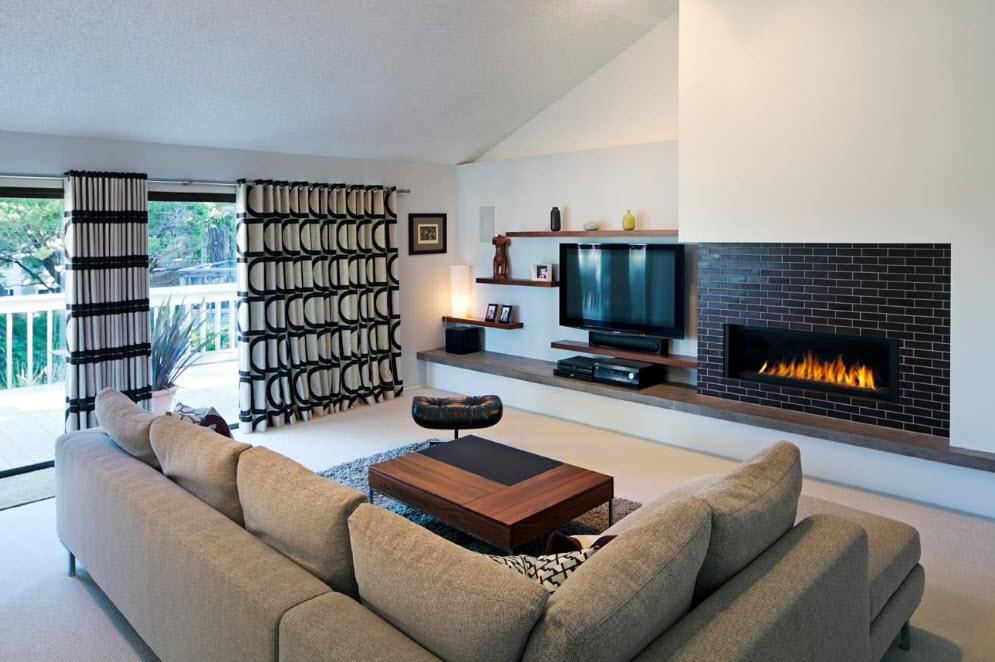 Интерьере современной гостиной