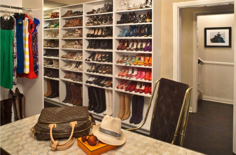 Как сделать полки в гардеробной для обуви