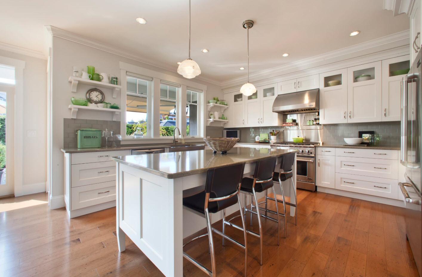 Серый кухонный фартук