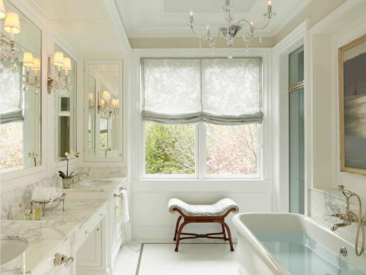 Тканевые жалюзи для ванной