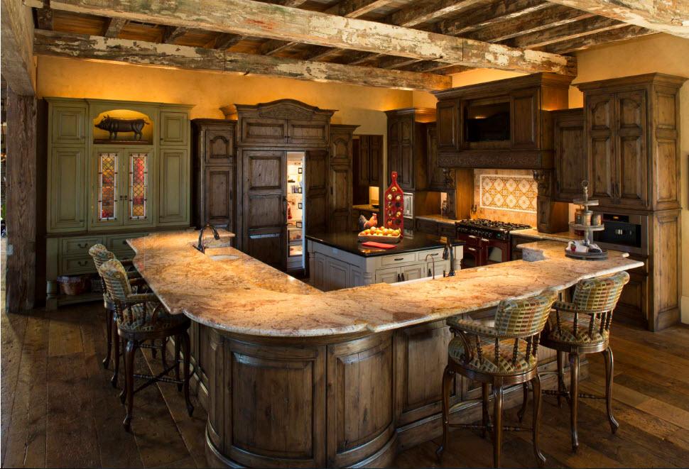 Класична меблі в кантрі-кухні