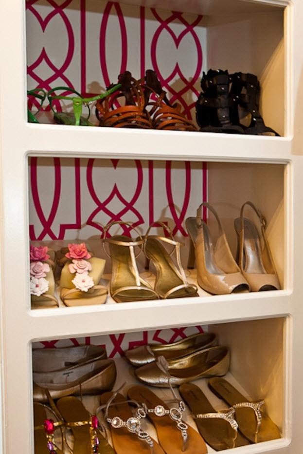Пестрый фон для обуви
