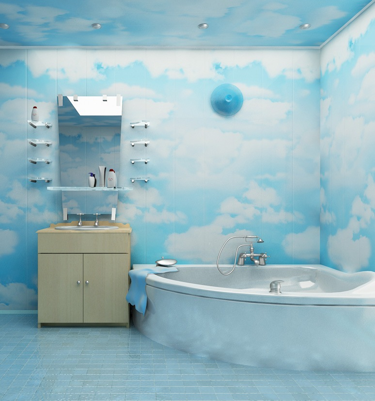 Необычная отделка ванной