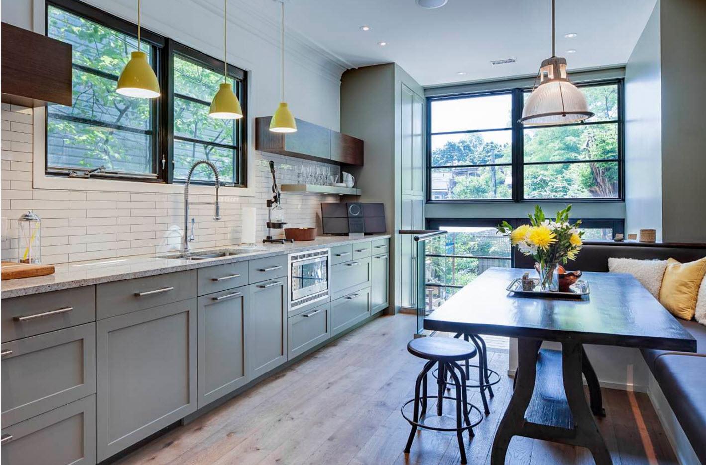 Кухня в серых тонах