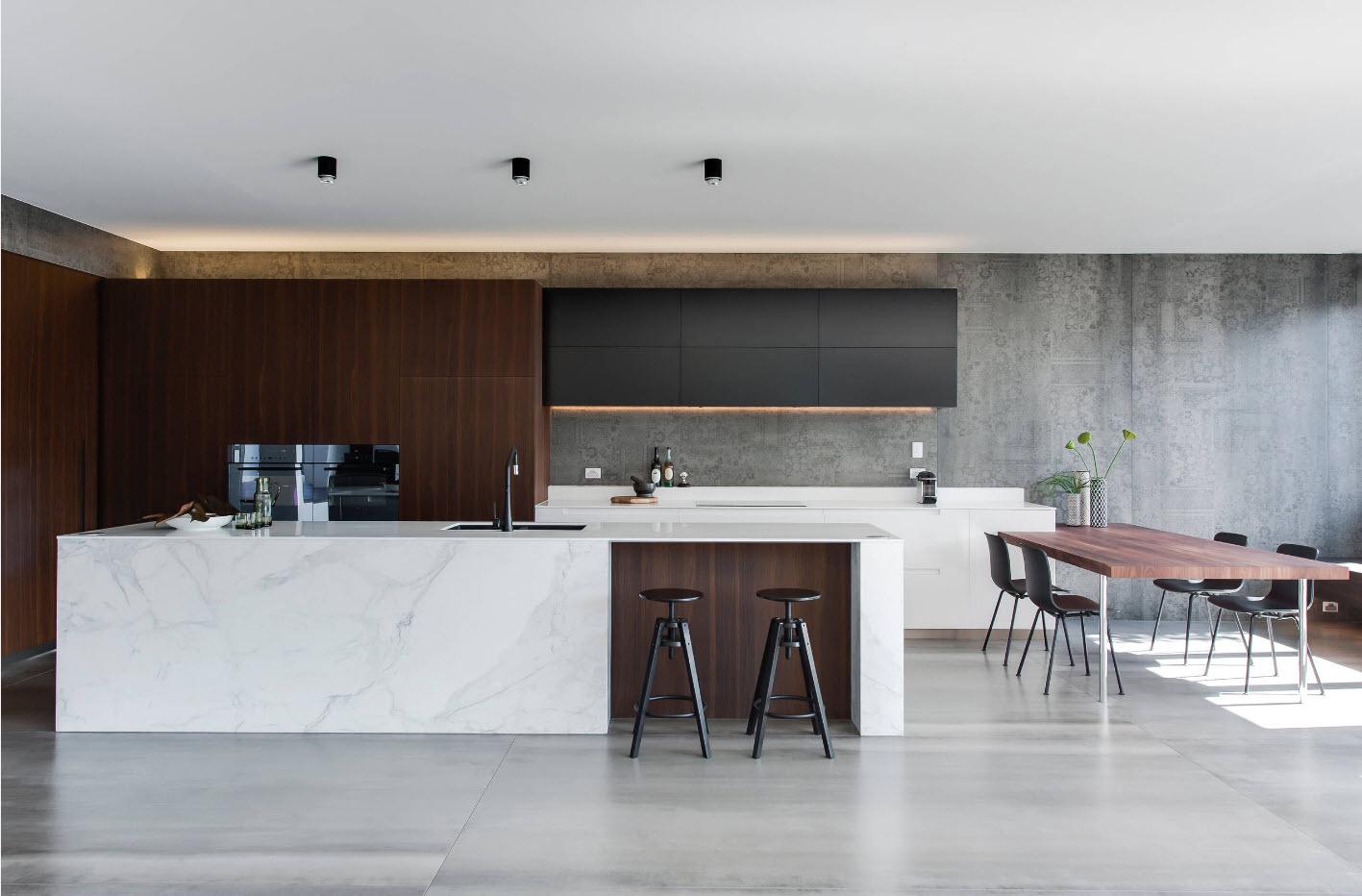 Нотки индустриальности в кухонном дизайне