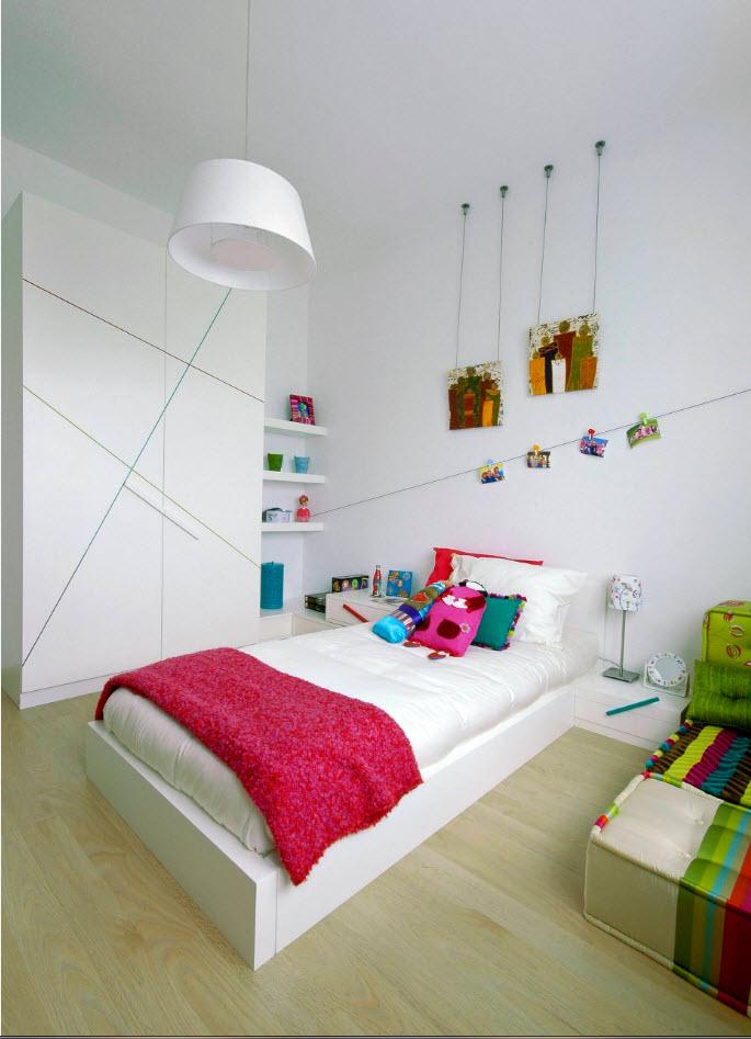 комната для девочки 12 лет с белой мебелью