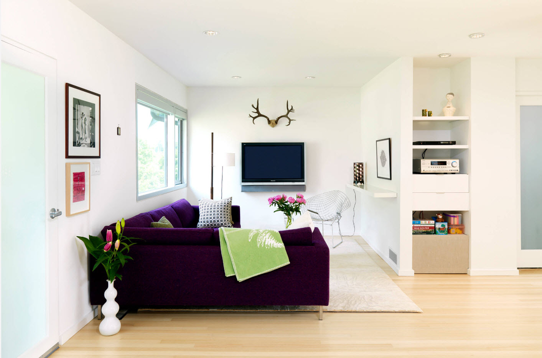 Яркий акцент на мебель