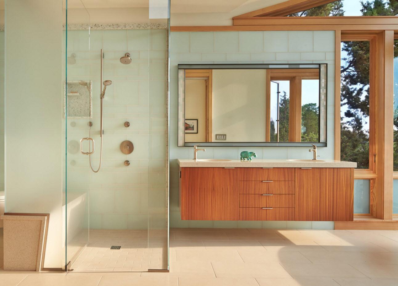 Яркая древесина для ванной
