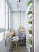 Оригинальный дизайн небольшого балкона