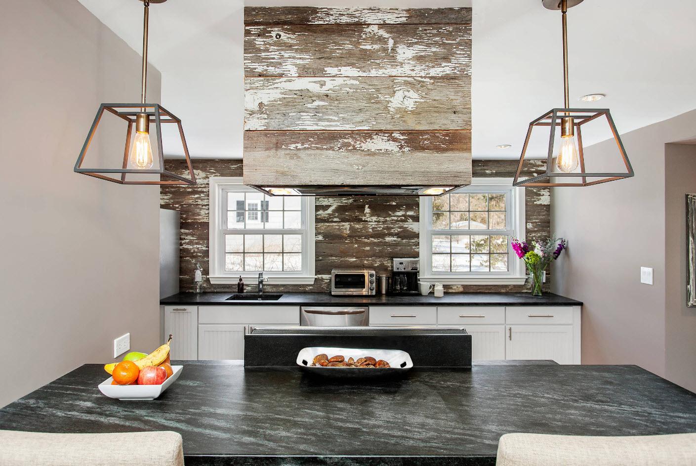 Потертые поверхности для дизайна кухни