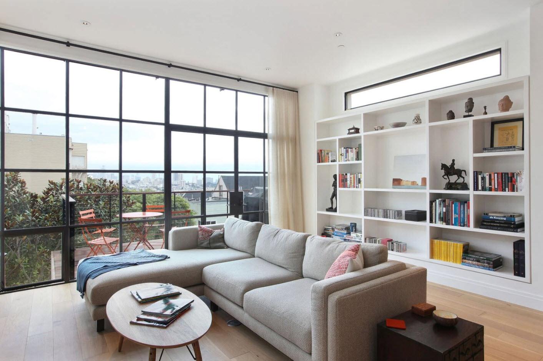 Современный стиль интерьера гостиной