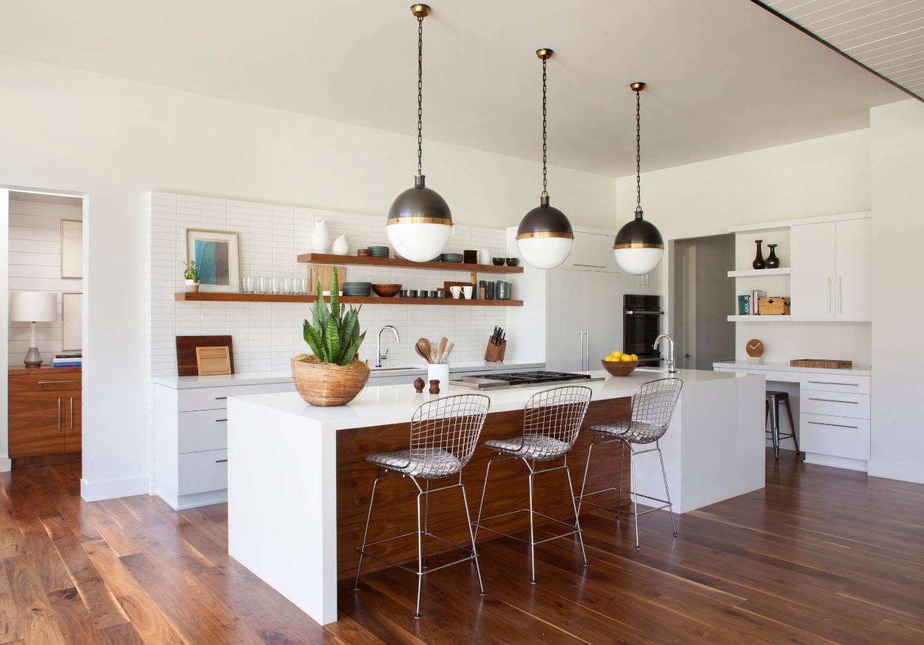 Мебельные решения для просторной кухни