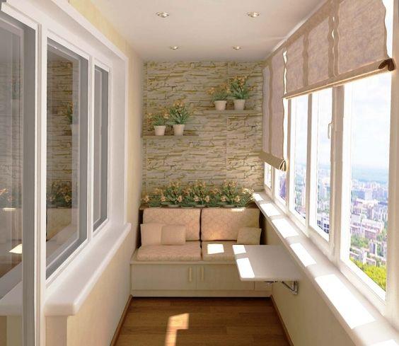 Балкон в бежевых тонах