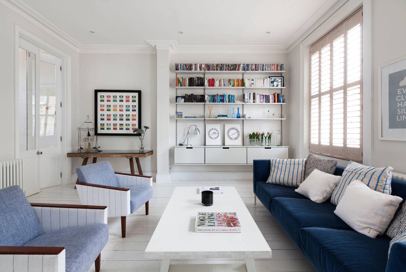 Акцентирование мебели на белом фоне