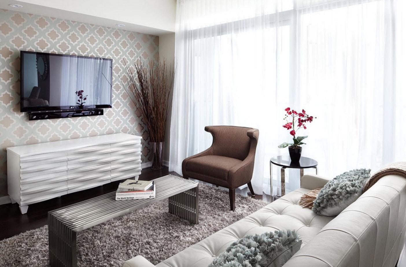 Светлые поверхности для небольших комнат