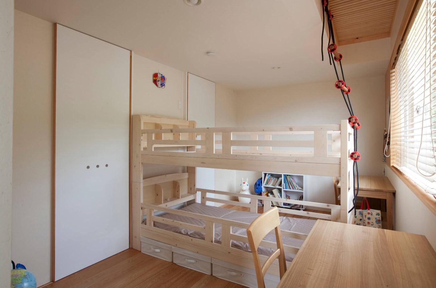 Спальные места в два уровня
