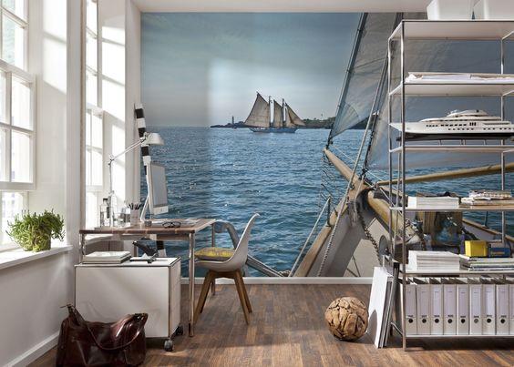 Морская тематика в кабинете