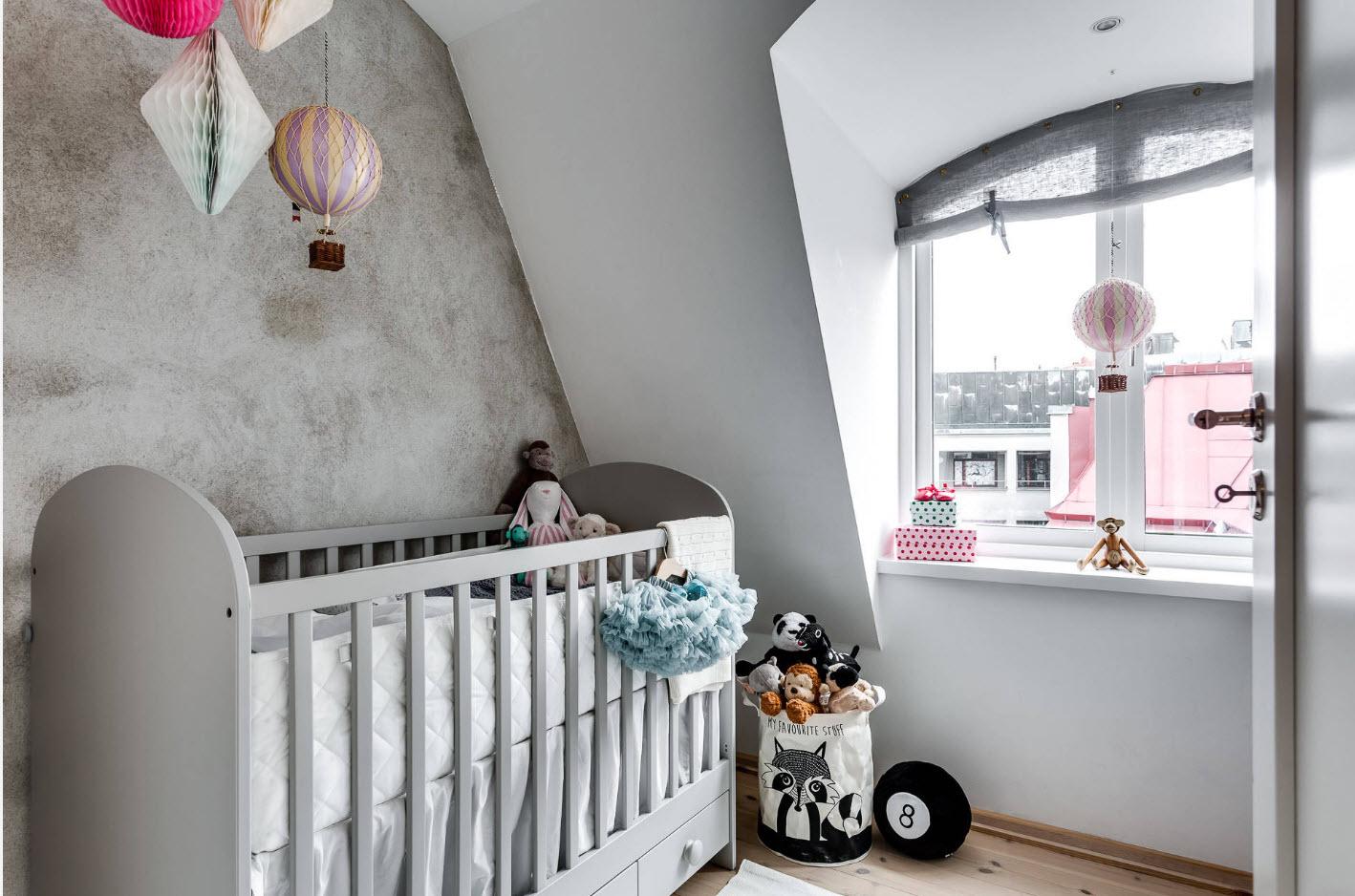 Комната младенца на мансарде