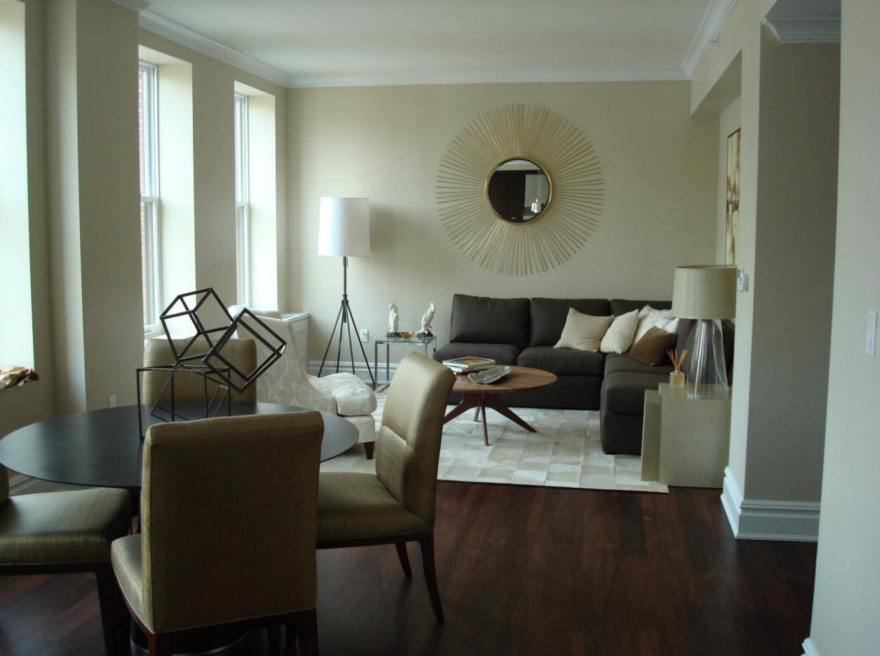 Зонирование при помощи мебели и осветительной системы