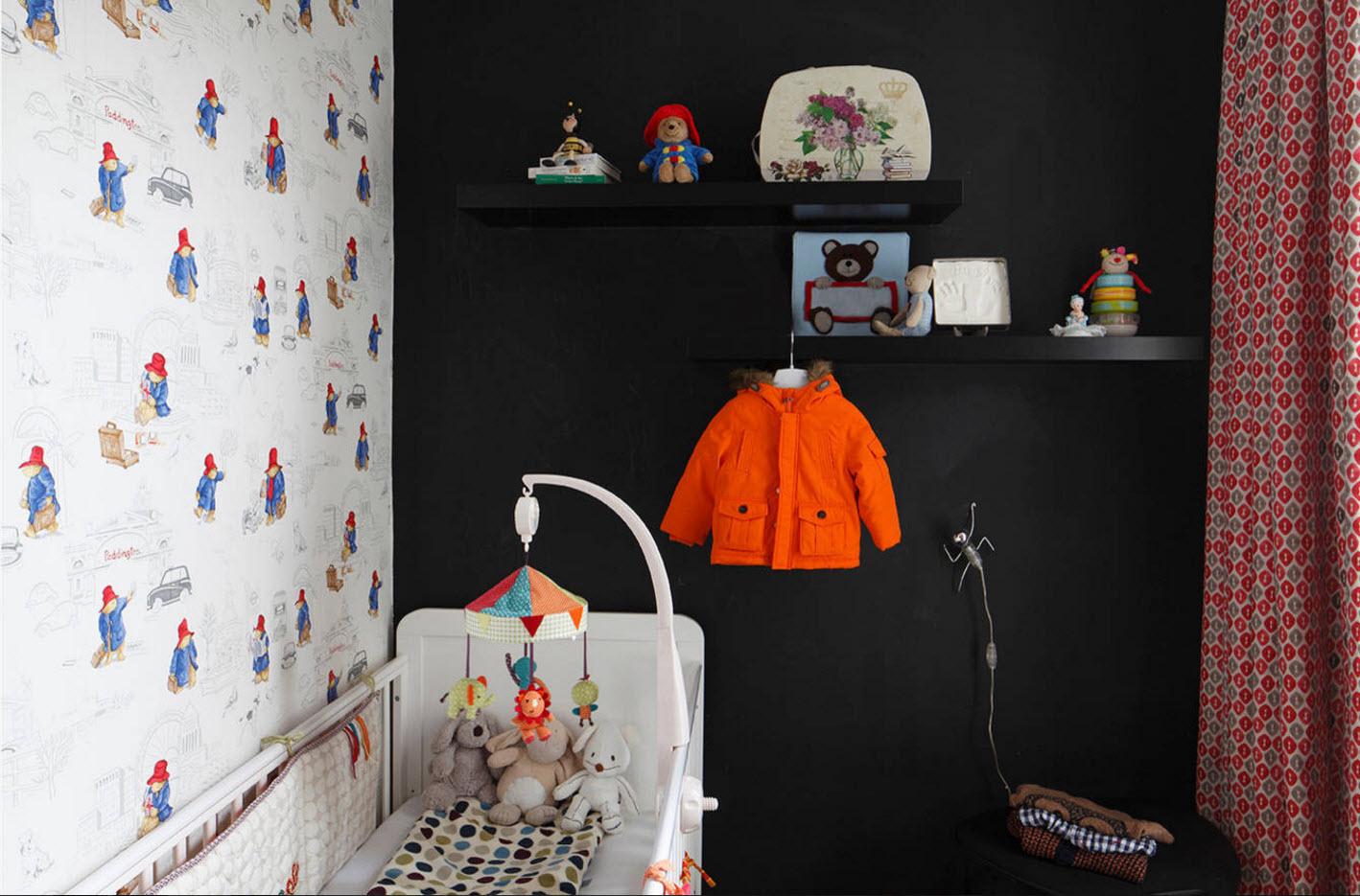 Необычное оформление комнаты младенца