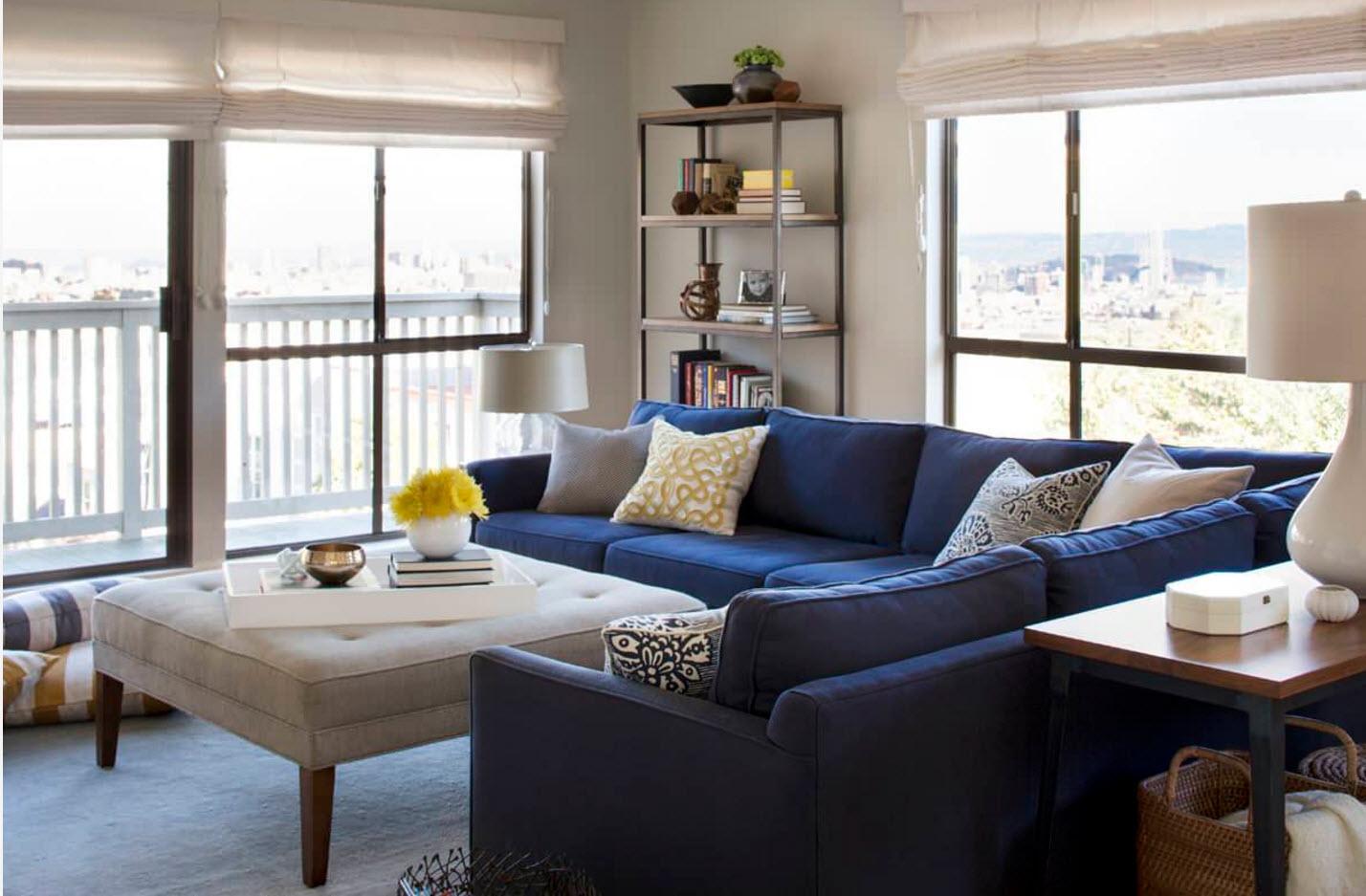 Угловой диван - цветовой акцент