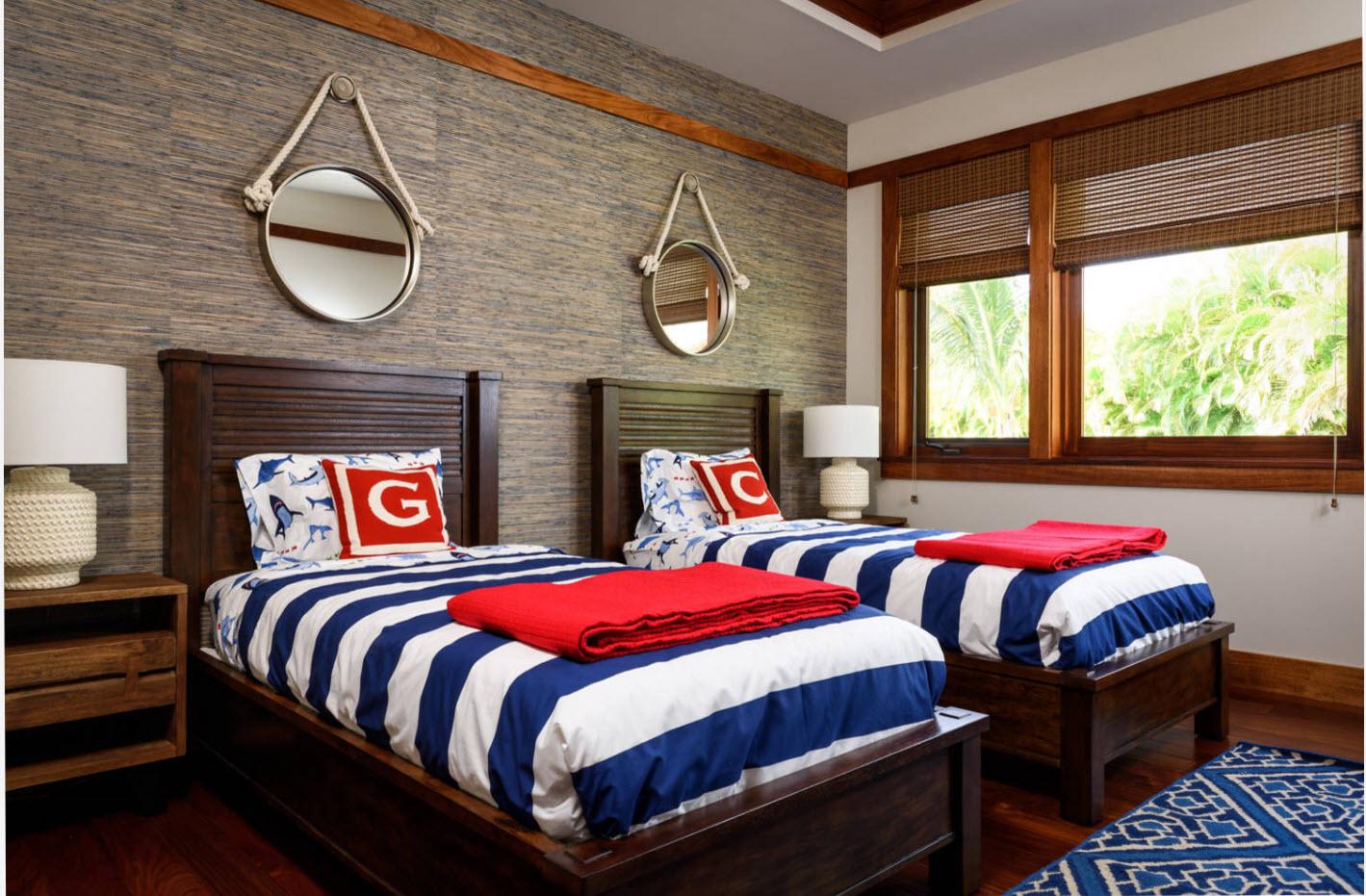 Яркий дизайн для совместной комнаты