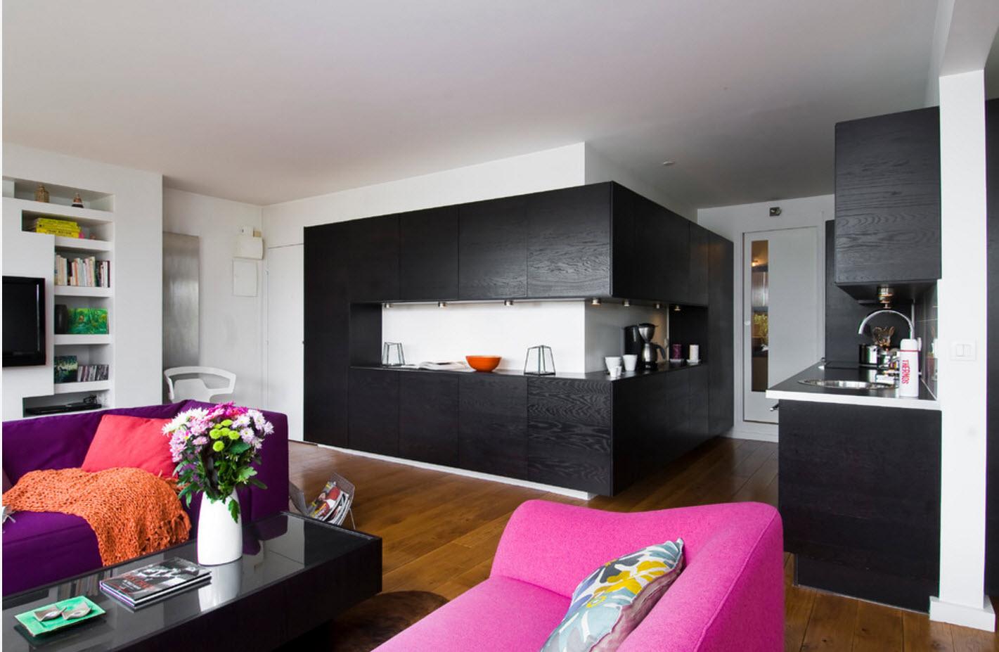 Необычное оформление кухонной зоны