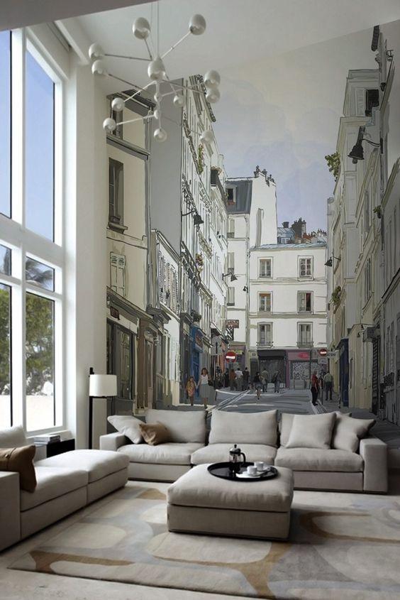 Городские улочки в гостиной