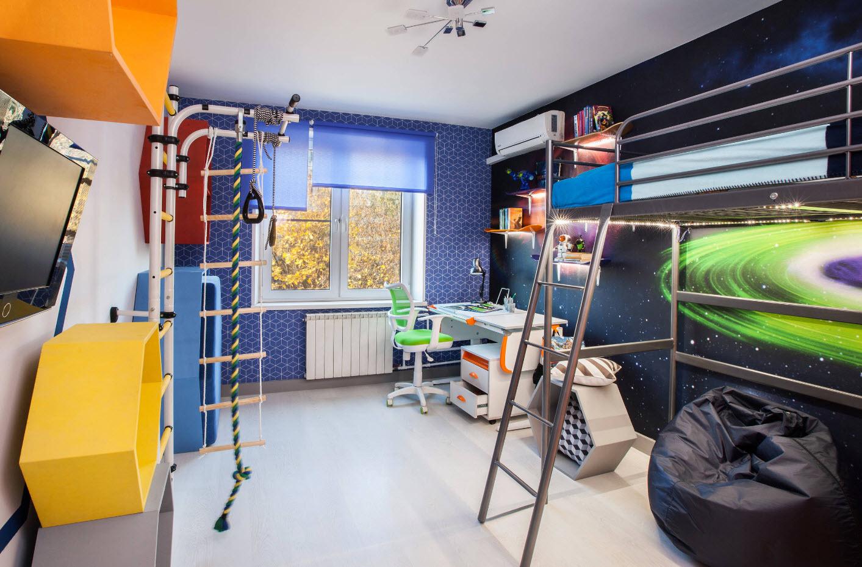 Комната для мальчика в тематике космоса