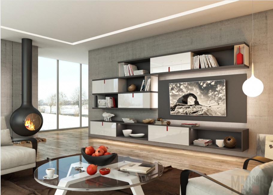 Современная стилистика в гостиной