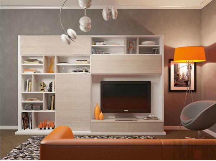 Мебельный ансамбль для функциональной гостиной