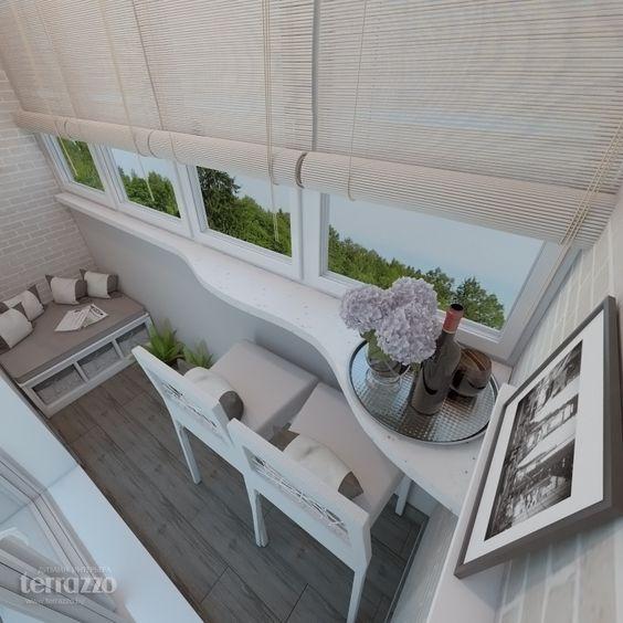 Планировка мебели на балконе