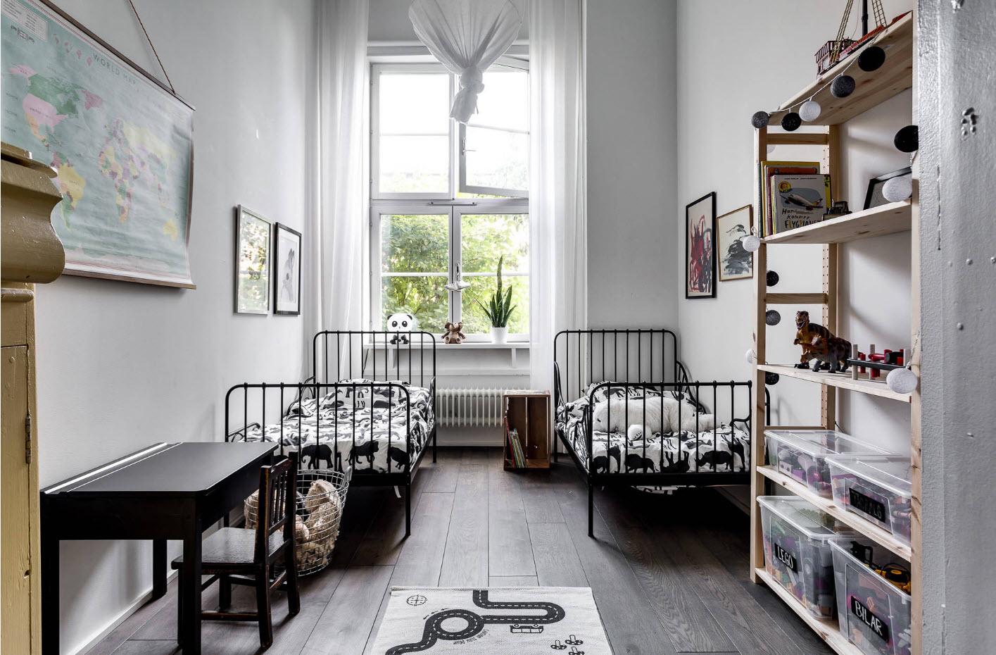 Скандинавский стиль для совместного помещения