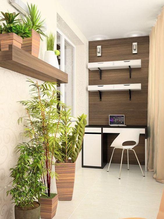 Природные оттенки для дизайна балкона
