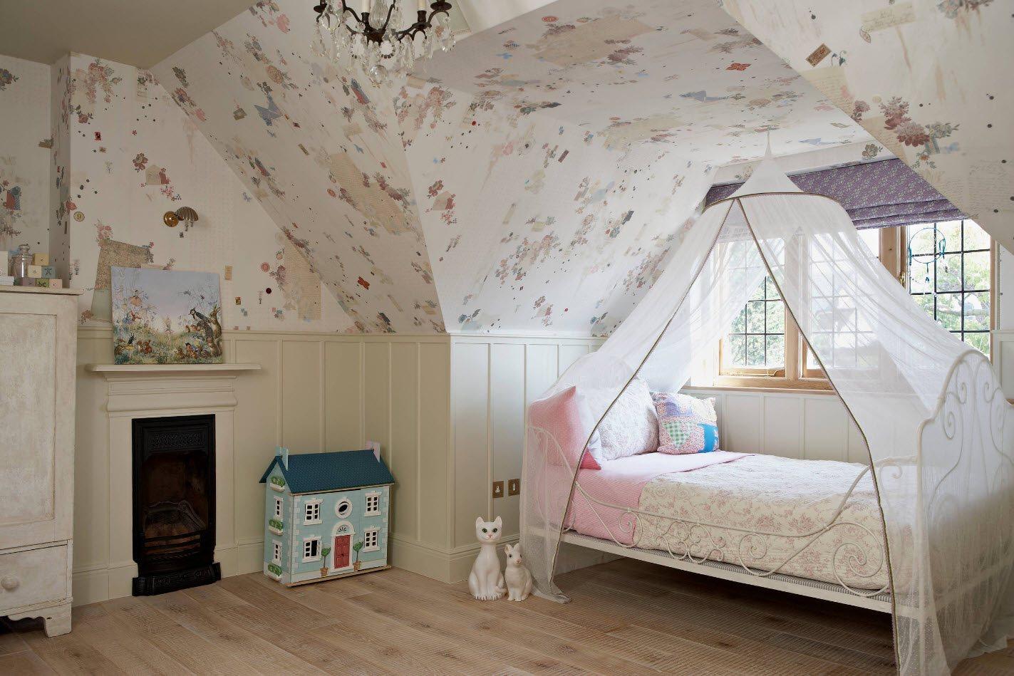 Дизайн комнаты для девочки с необычной геометрией