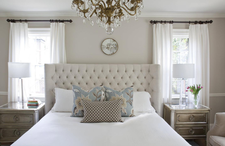 Классические мотивы в современной спальне
