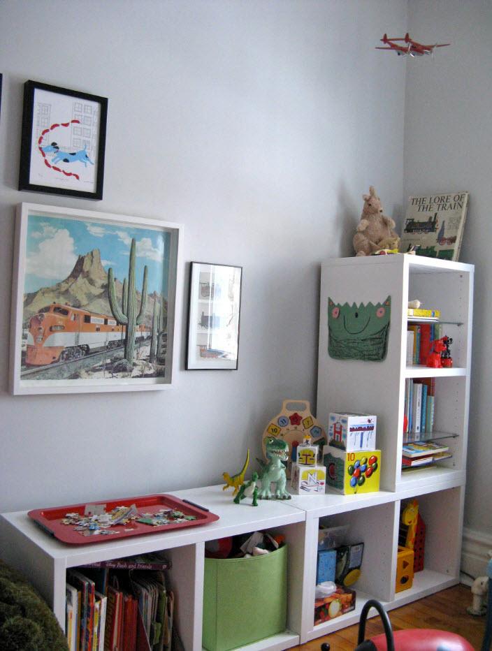 Стеллаж для небольшой комнаты