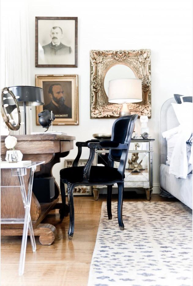 Роскошное кресло-стул в черном цвете