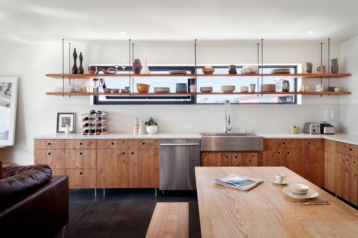 Открытые полк для кухни