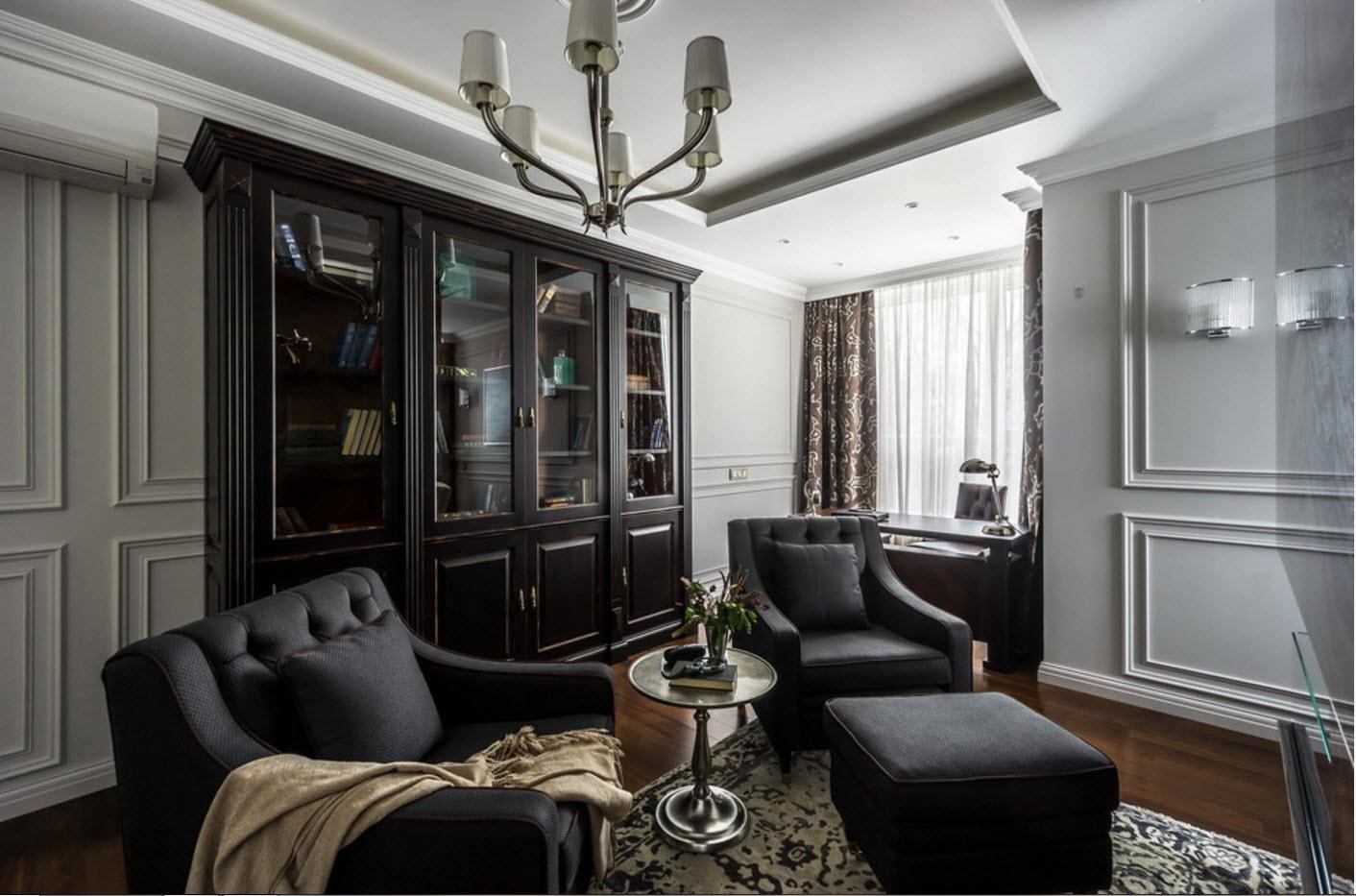 Темная мебель и системы хранения