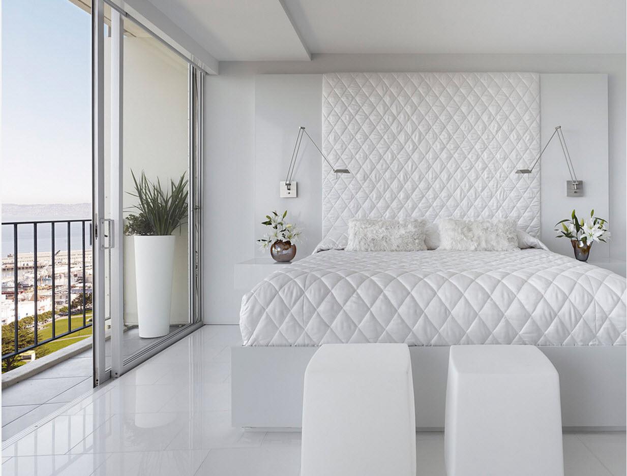Белоснежный дизайн спальни
