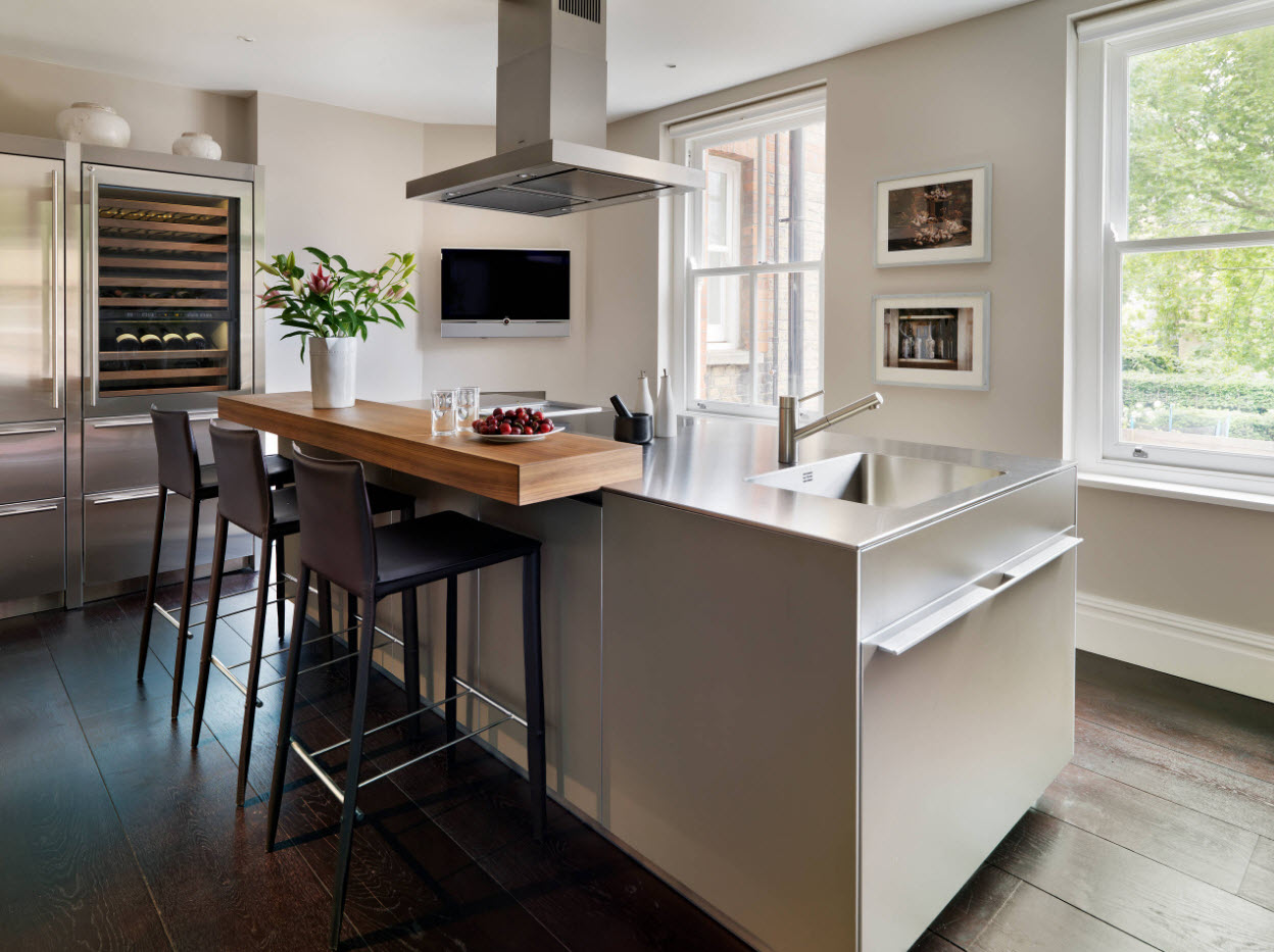 Столешница как акцент в дизайне кухни