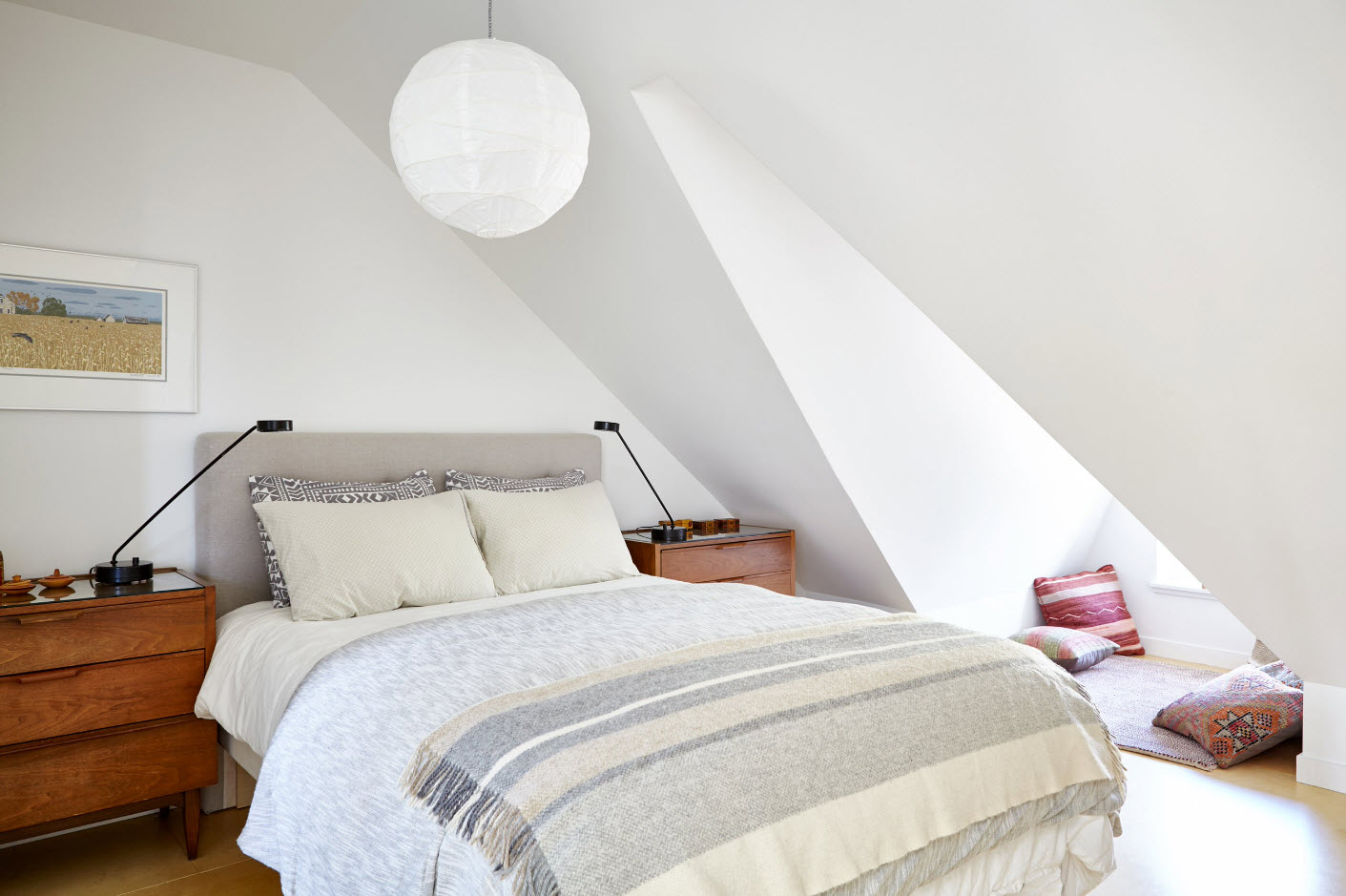 Спальня на мансарде