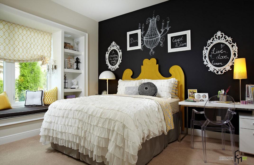 Роскошная спальня в стиле ар-деко для юной особы