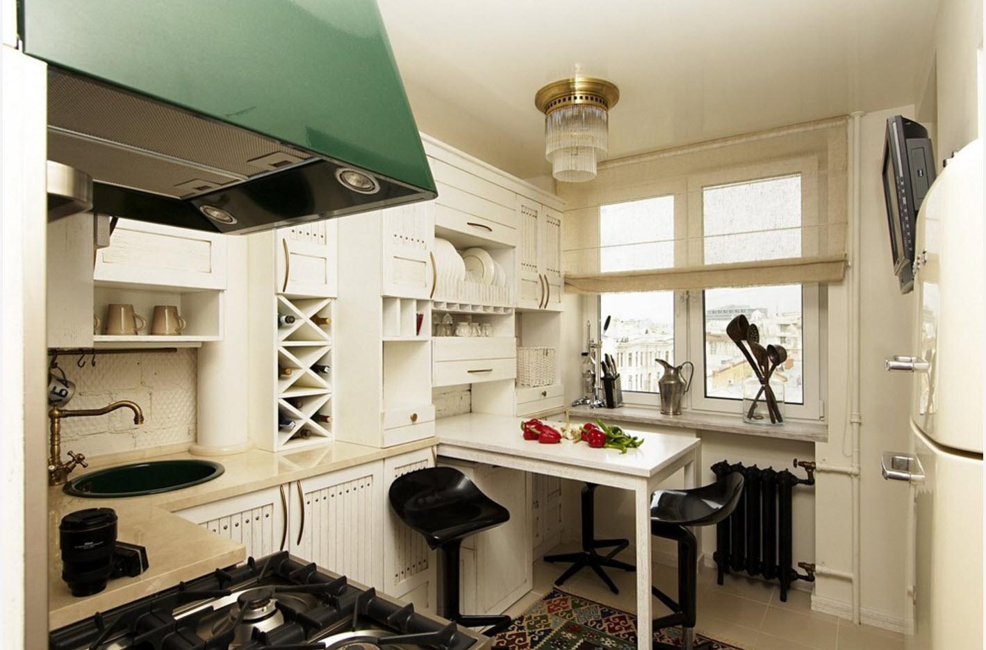 Интерьер небольшого кухонного помещения